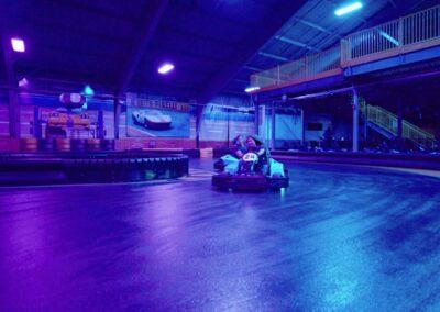 Go Karts under DFX lighting