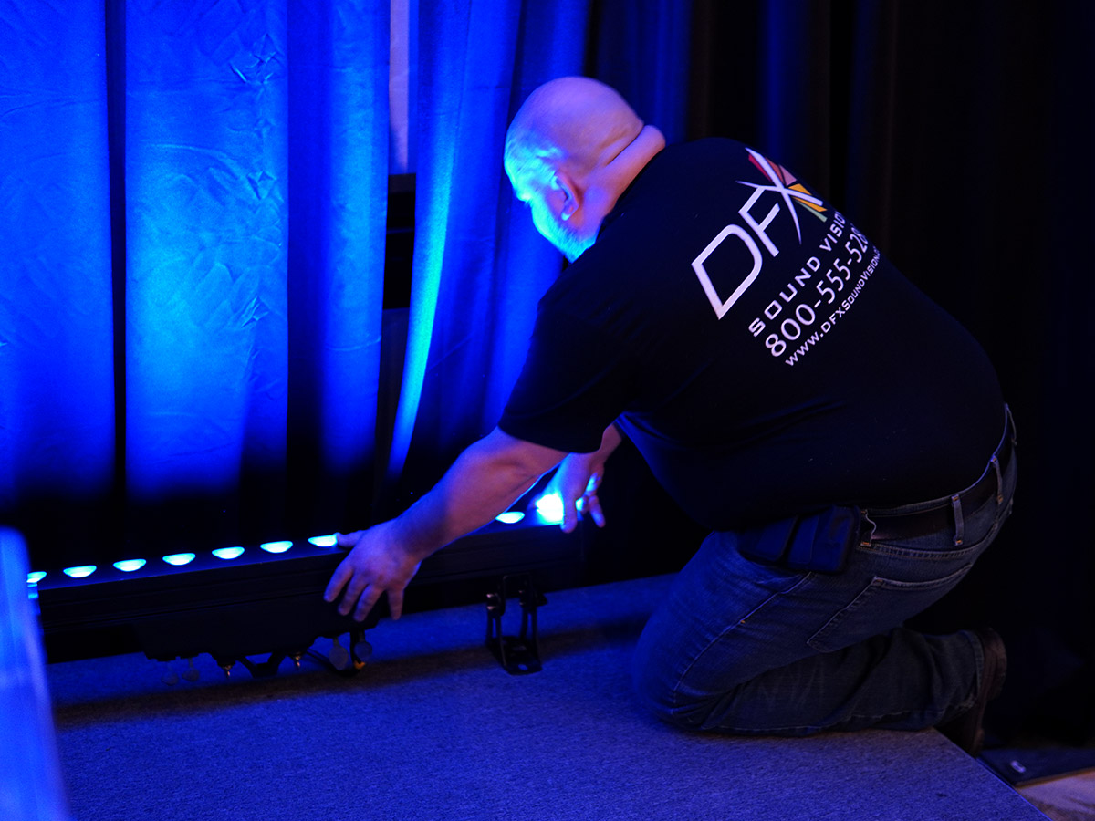 Technician setting up a VersaBar