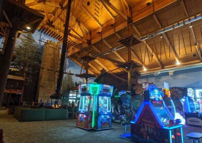 arcade and high ropes course